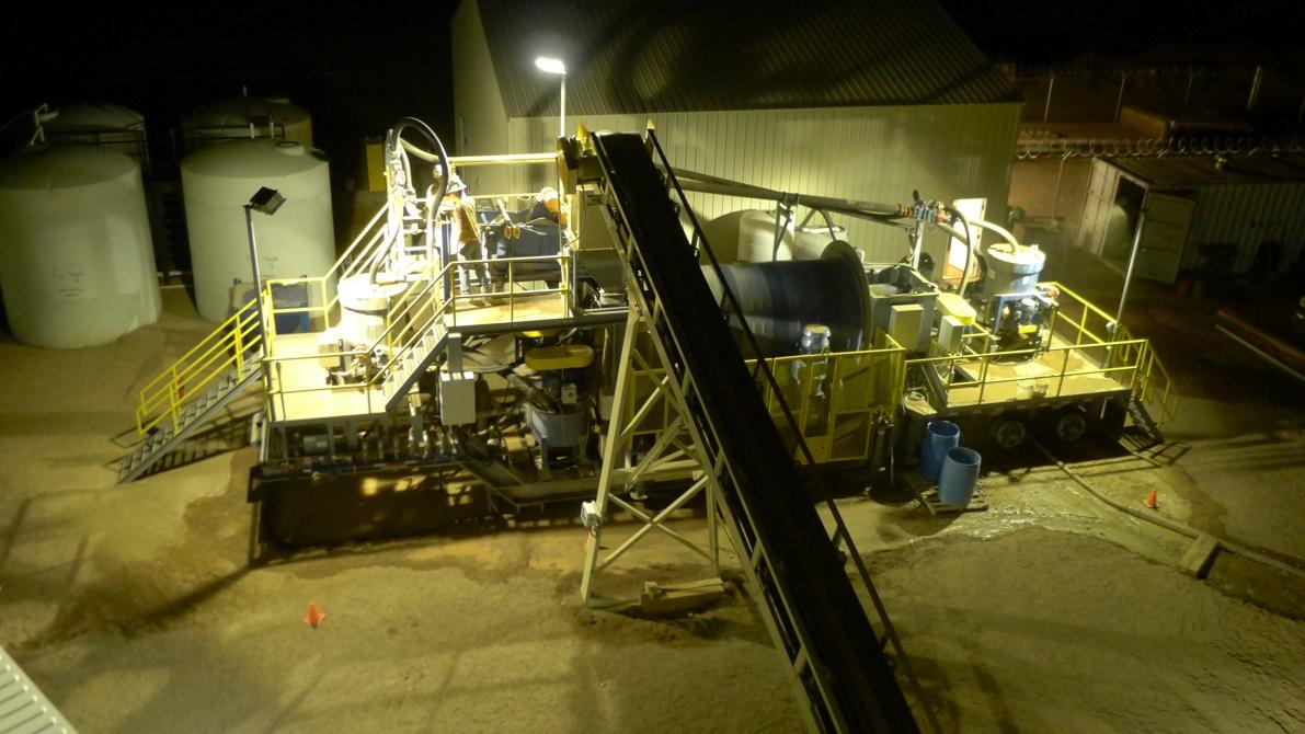 Мобильная ЗИФ Sepro Mineral System на руднике Wickenberg (США, Аризона)