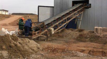 Испытания доизвлечения золота на предприятии кучного выщелачивания